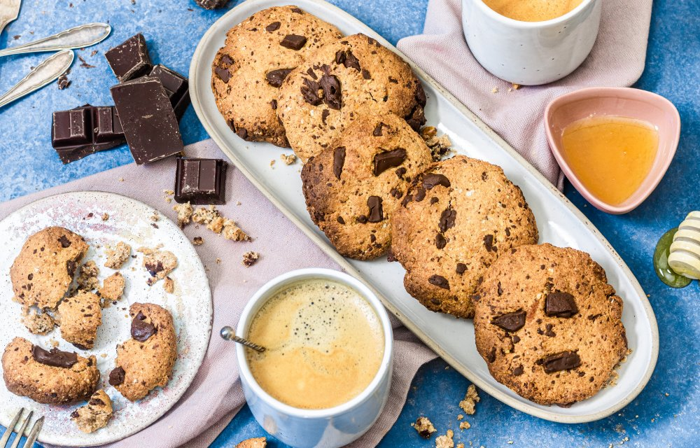 Healthy baking Chocolate Chip Cookies