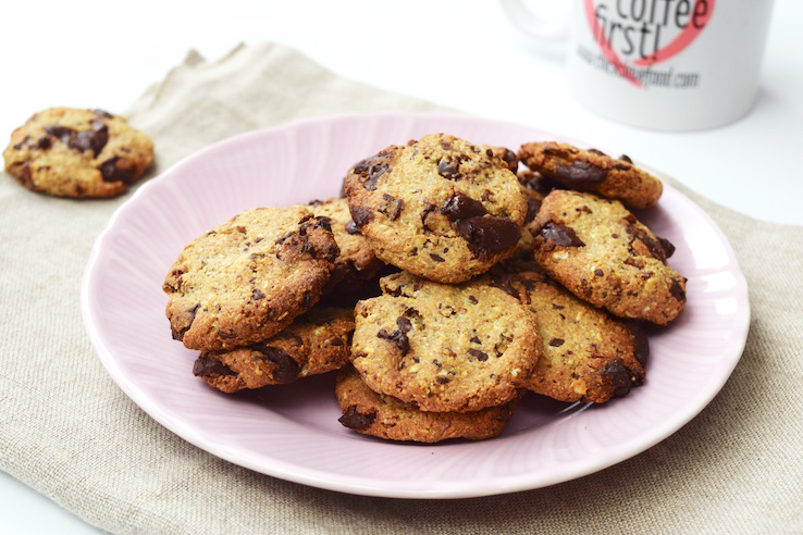 gezonde chocolate chip cookies - chickslovefood.com