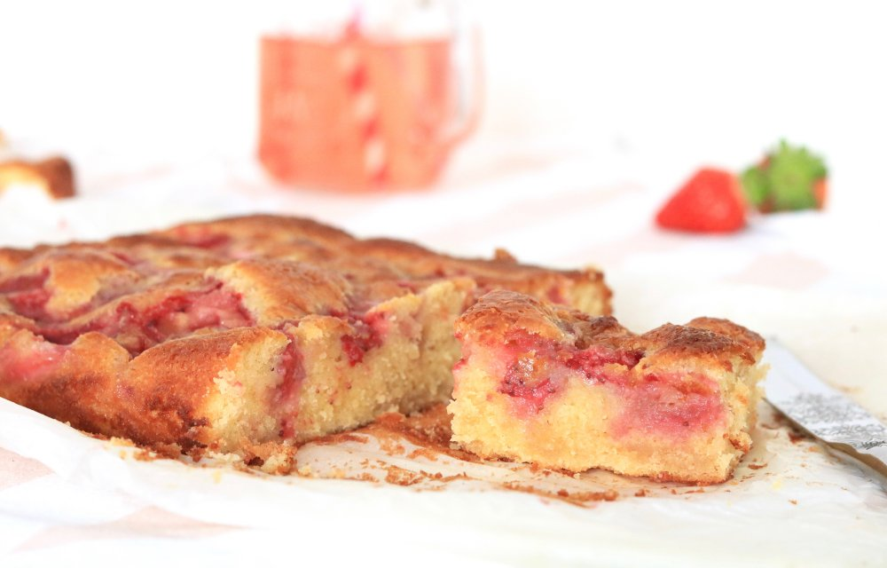 aardbeien blondies CHICKSLOVEFOOD