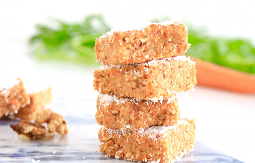 no bake carrot cake bars CHICKSLOVEFOOD