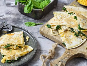 Quesadilla's met pulled chicken - Eindfoto1 - Chickslovefood