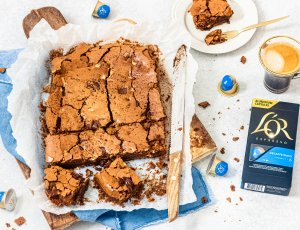 koffie triple chocolate brownie