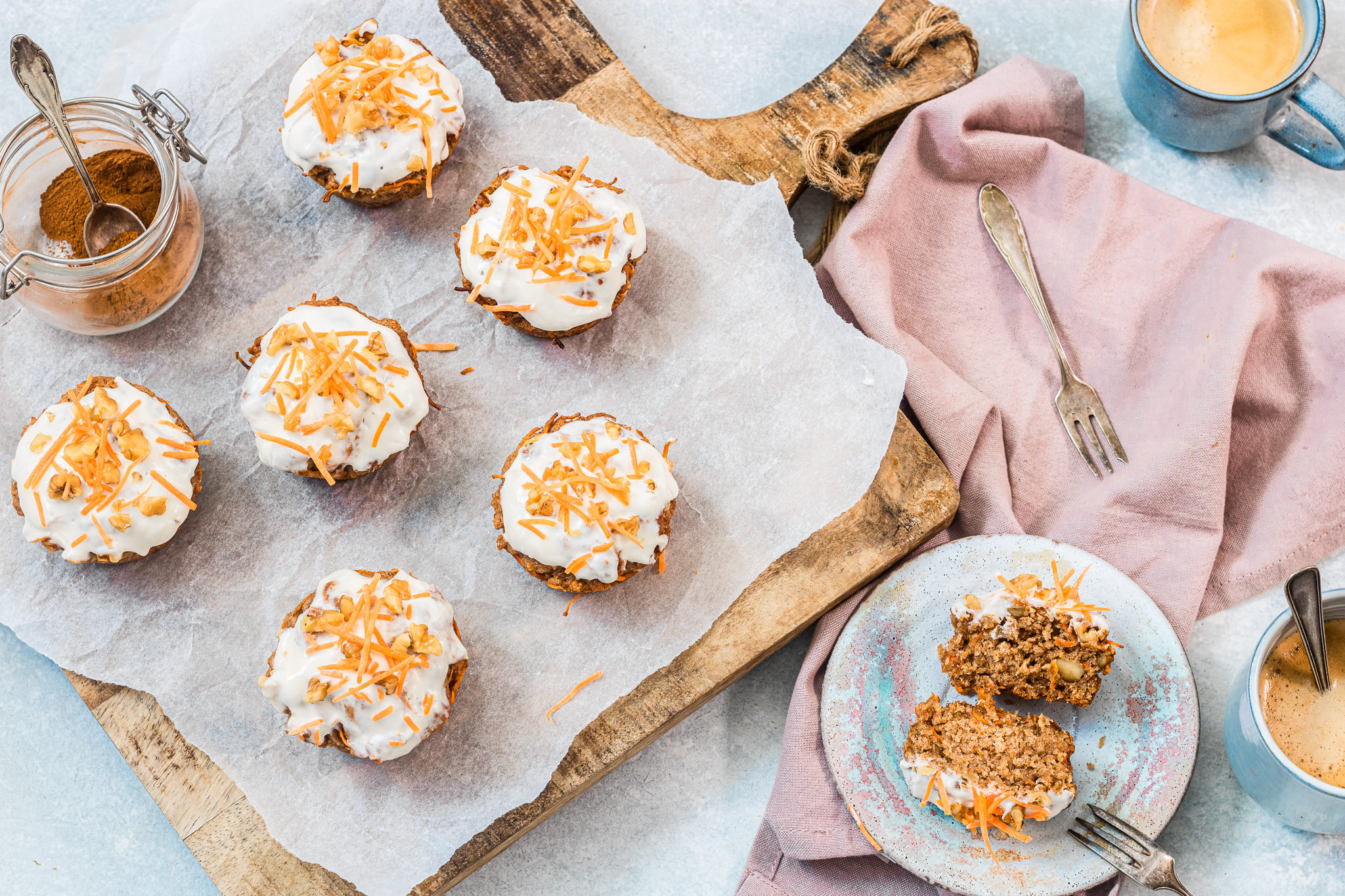 Gezonde carrot cake muffin