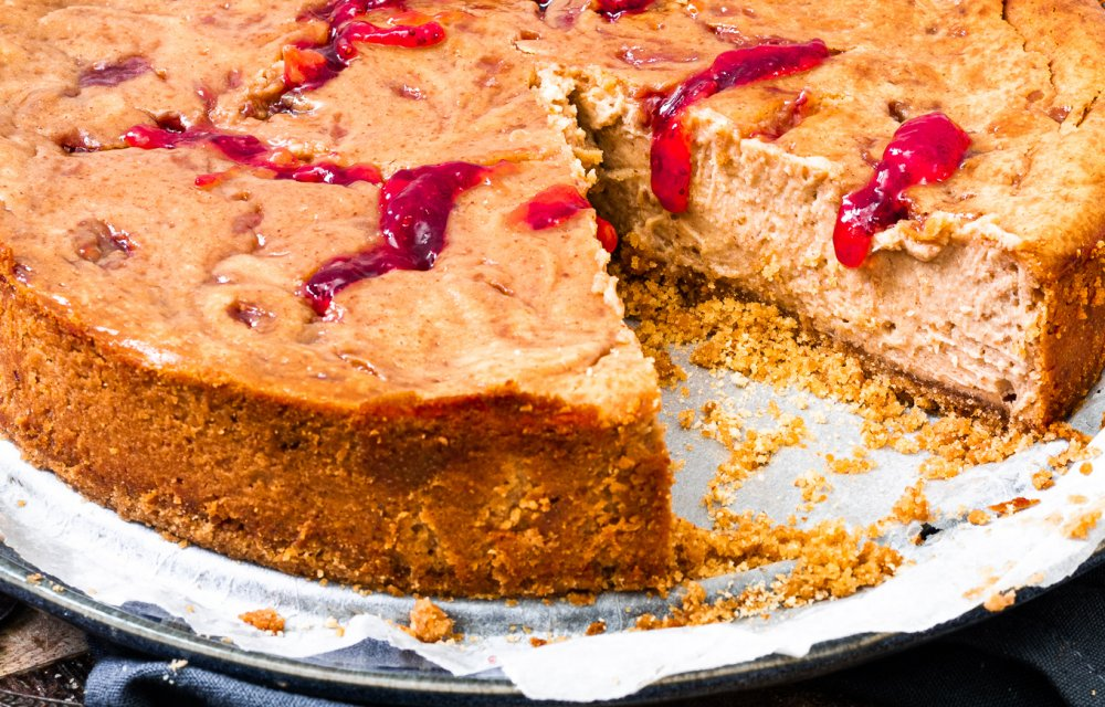Peanut butter & jelly cheesecake