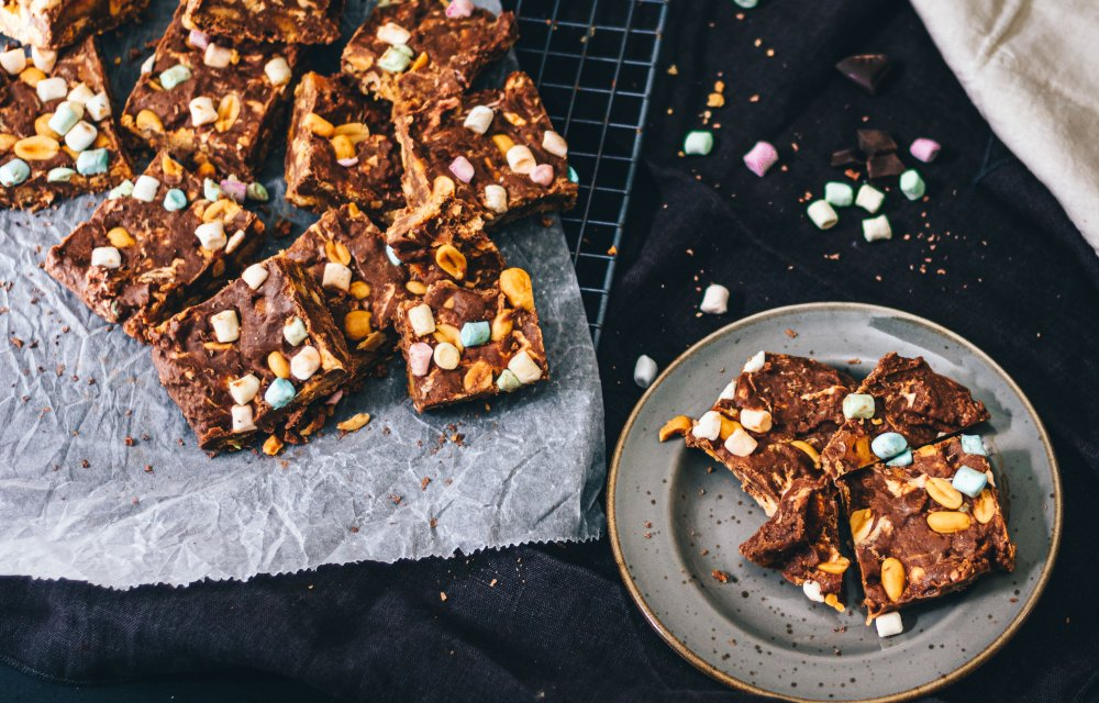 Simpele rocky road snickers